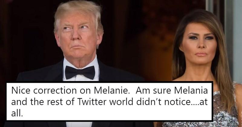 FLOTUS us politics trump tweets melania trump donald trump Awkward president potus politics - 5686789