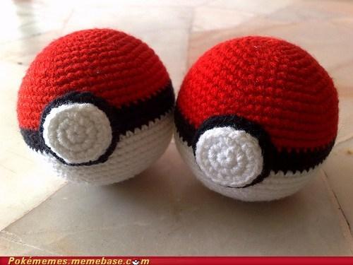 craft Fan Art knit pokeball - 5686838528