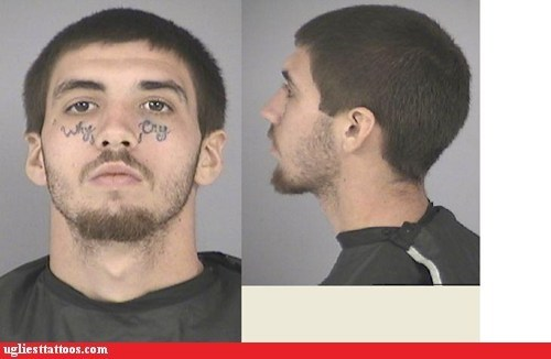 face tattoos mug shot why cry - 5686937856