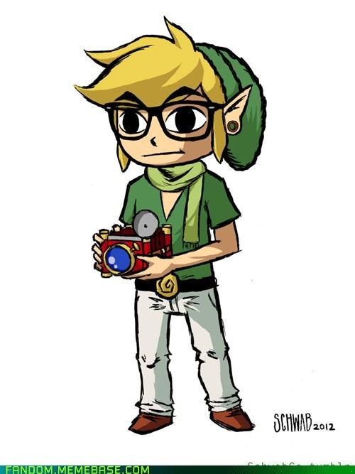Fan Art hipster legend of zelda link video games - 5686977536