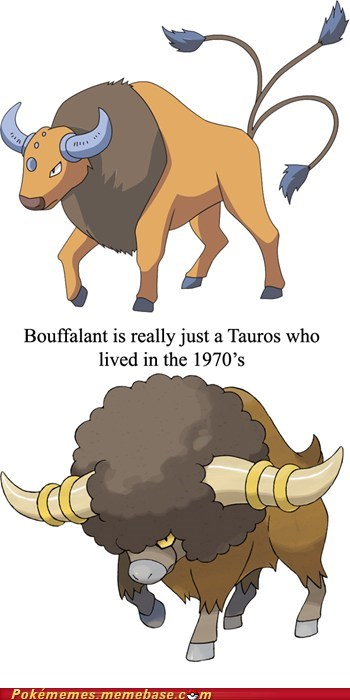 bouffalant disco Memes should be evolution tauros - 5687160320