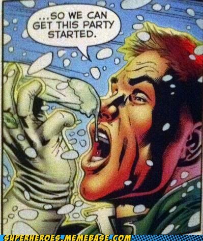 batman,eww,guy gardner,Party,Straight off the Page,wtf