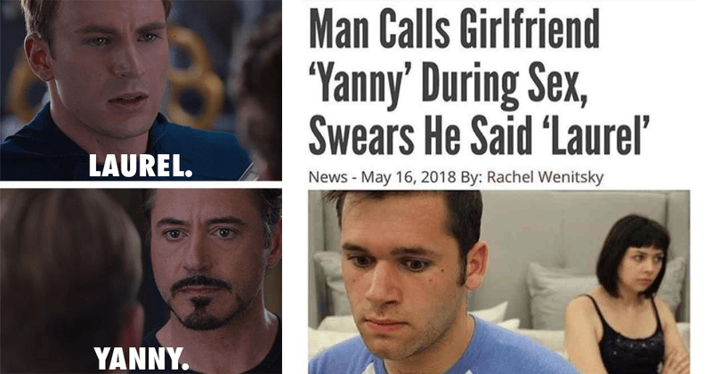 Funny yanny vs laurel memes.