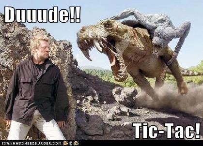 bad breath,dinosaur,photoshopped,tic tac,whoa,wtf
