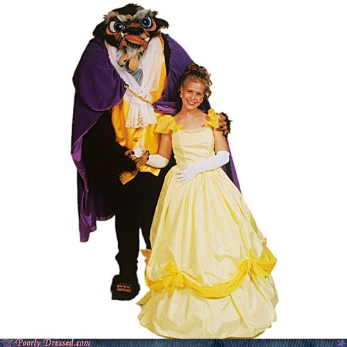 Beauty and the Beast cosplay fail disney fashion g rated hideous cosplay meat grinder poorly dressed