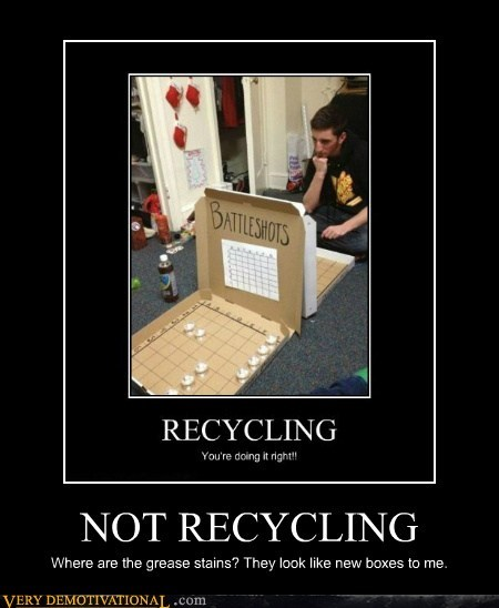 NOT RECYCLING