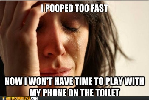 First World Problems meme poop pooping - 5688300544