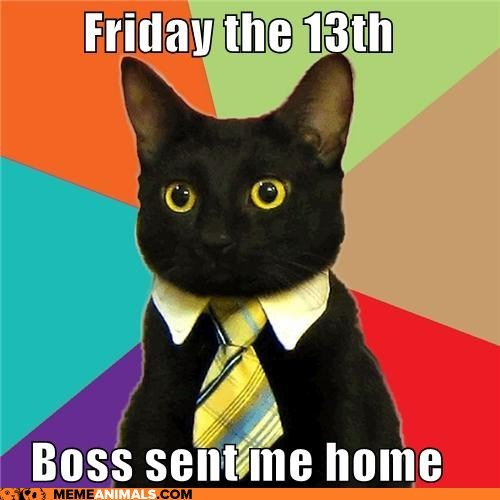 bad luck,black cats,business,Business Cat,Cats,friday the 13th,holidays