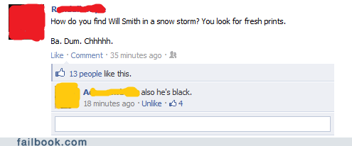 also that,facebook,failbook,groan,joke,snow,will smith