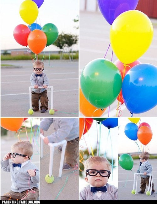 baby cosplay,parenting WIN,pixar,up