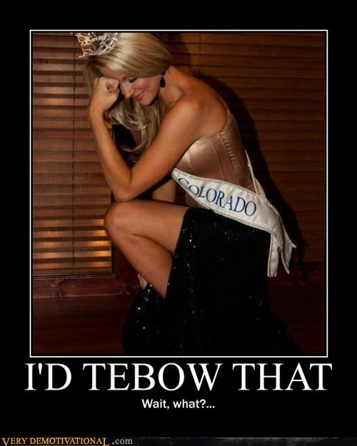 hilarious kneel Sexy Ladies tebow