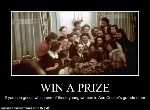 WIN A PRIZE If you can guess which one of those young women is Ann Coulter's grandmother
