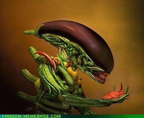 alien Fan Art vegetables wtf - 5688835584