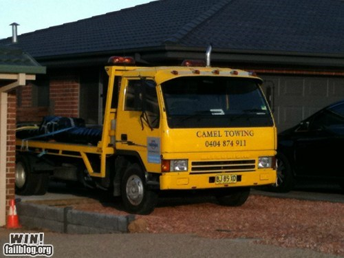business clever lady bits name towing truck whoops - 5688840448