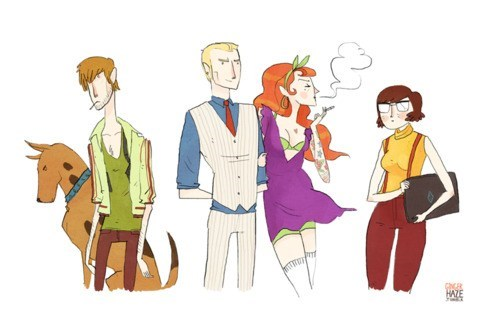 Fan Art,Noelle Stevenson,scooby doo