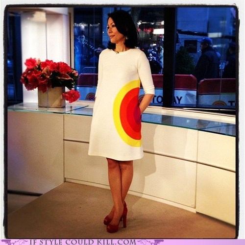 Ann Curry,cool accessories,dress,today show