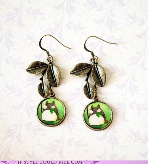 cool accessories earrings totoro - 5689191424