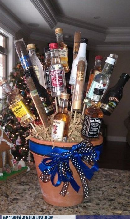 alcohol basket booze fruit basket - 5689291520