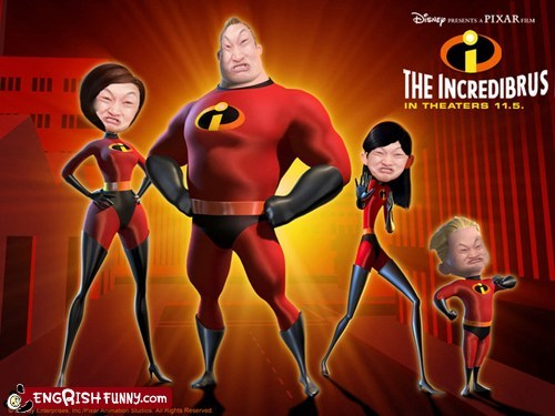 engrish funny,g rated,Hall of Fame,impossibru,photoshopped,pixar,the incredibles