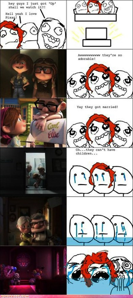 animation comic disney funny pixar rage Sad up