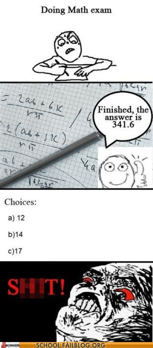 far away math exam not an option so close - 5689853696