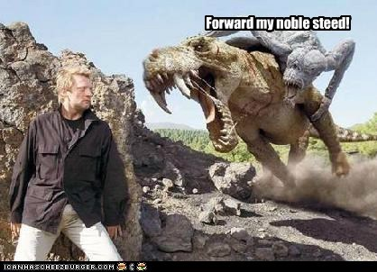 British,dinosaurs,douglas henshall,forward,nick cutter,noble steed,Primeval