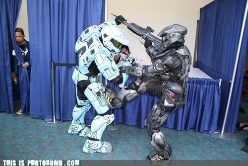 awesome behind the curtain cosplay costume halo - 5690597888