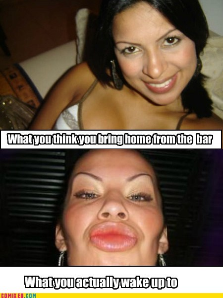 alcohol bar beer goggles duck face girls the internets - 5691127040