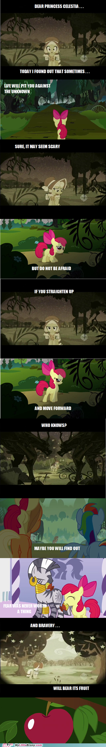 apple bloom,bravery,comic,comics,fear,granny smith