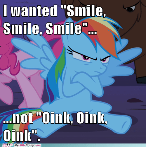 best of week disappointed dash Music oink oink oink ponies rainbow dash smile smile smile - 5692042496