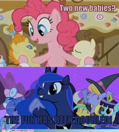 babysitting huzzah luna meme pinkie pie - 5692154368