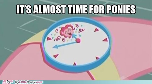 gotta run party clock pinkie pie ponies TV watch - 5692175360