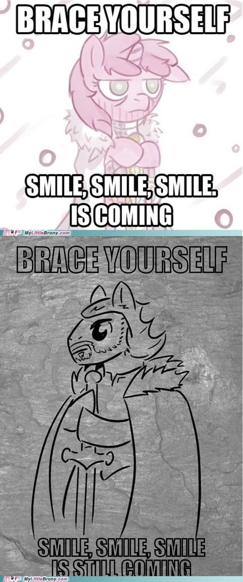 brace yourself,meme,ponify,smile