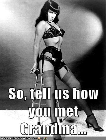 best of the week Bettie Page grandma Hall of Fame historic lols howd-you-meet innuendo sexy vintage - 5692849920