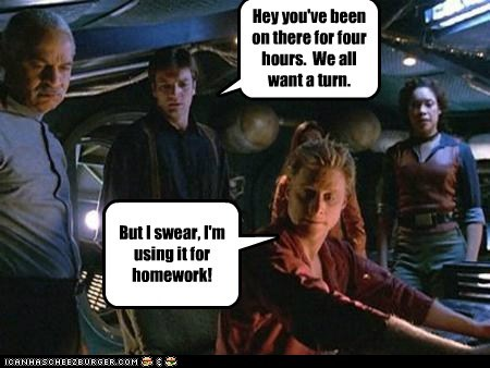alan tudyk captain malcolm reynolds Cats computer Firefly gina torres homework hours internet nathan fillion shepard book wash zoe washburne - 5693295872