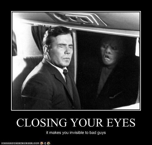 bad guys close your eyes gremlin invisible plane Shatnerday twilight zone William Shatner - 5693521920