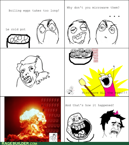 all the things,eggs,genius,microwave,Rage Comics