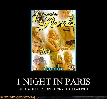 1 night in paris,hilarious,paris hilton,sexy times,twlight