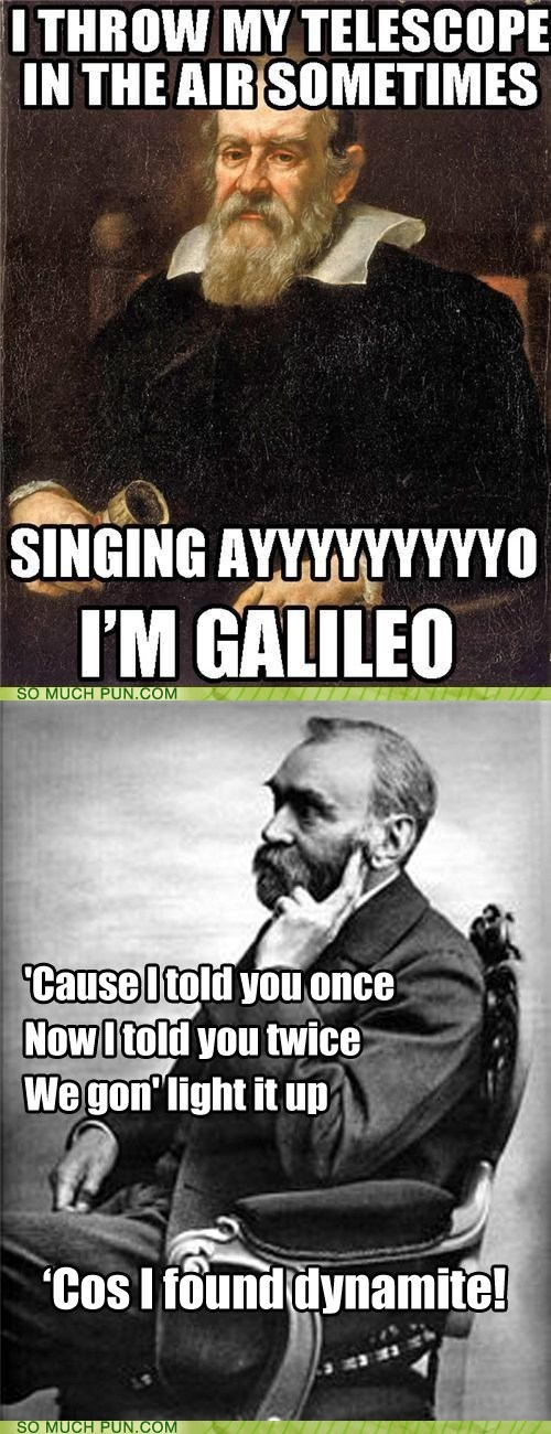 alfred nobel dynamite galileo Hall of Fame literalism lyrics song tayo cruz