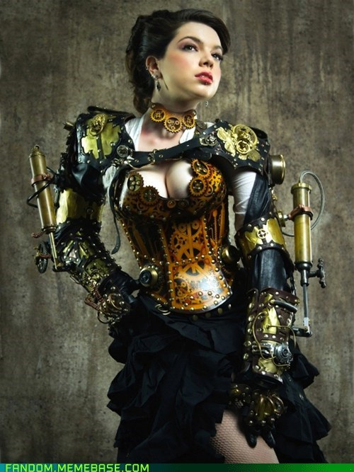 cosplay,gears,hot,Steampunk
