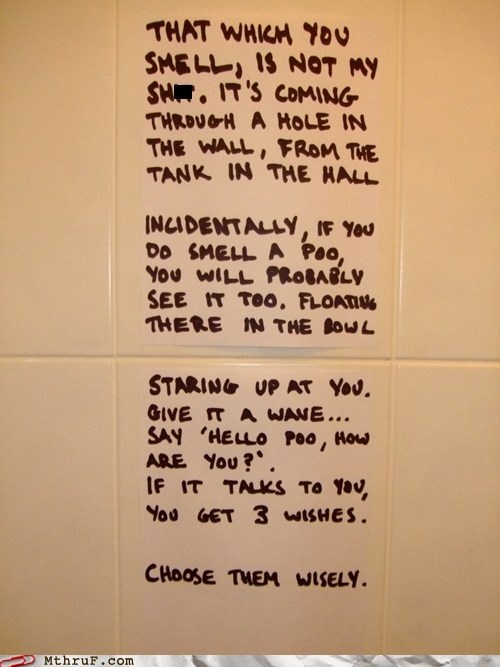 bathroom humor ode to a poo sharpies on the toilet - 5694961152