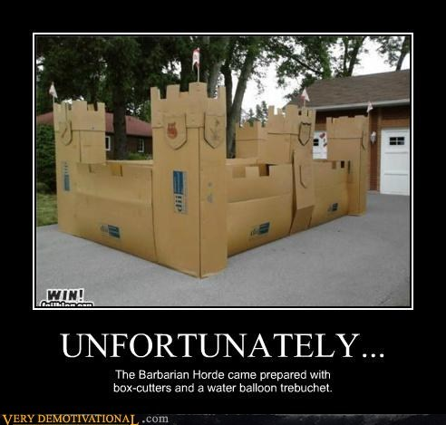 barbarians cardboard castle Pure Awesome