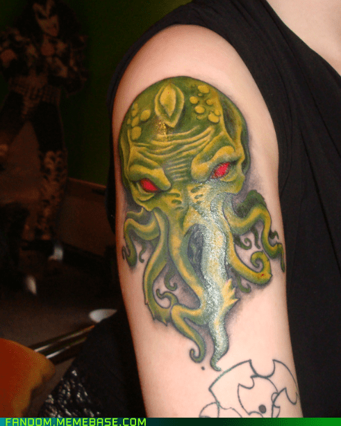 body mod,cthulu,Fan Art,tattoo