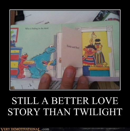 bert,ernie,hilarious,Sesame Street,twilight,wtf