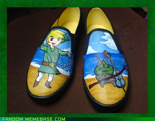 Fan Art legend of zelda shoes video games wind waker - 5695856384