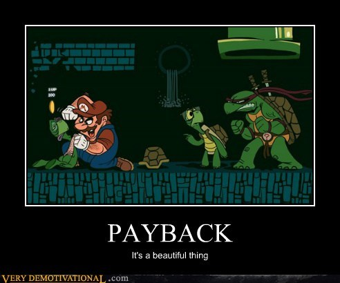 mario payback Pure Awesome TMNT video games - 5696295680