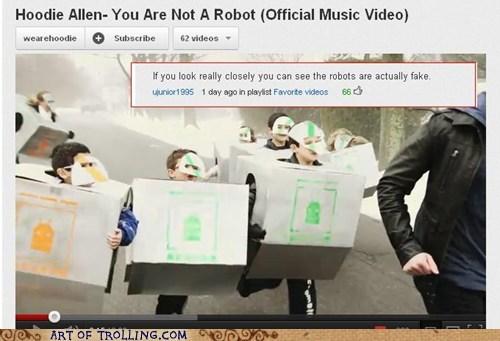 fake obvious robots youtube