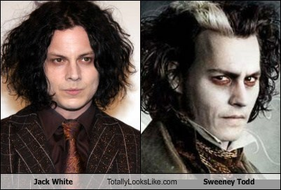 funny jack white Johnny Depp Sweeney Todd TLL