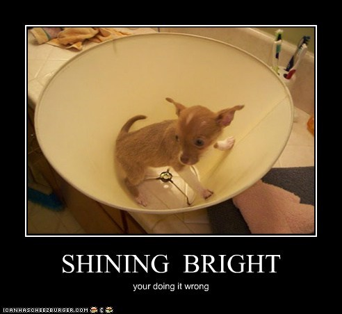 SHINING BRIGHT your doing it wrong