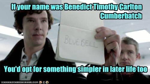 bennedict cumberbatch bluebell Martin Freeman names sherlock bbc sherlock holmes simple Watson - 5697403136
